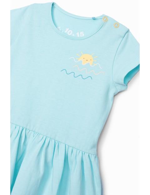 Sukienka niemowlęca na lato bawełniana