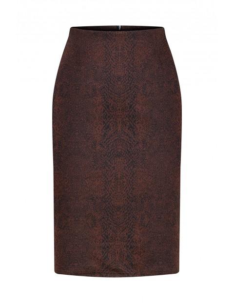 Spódnica ołówkowa - bordowa