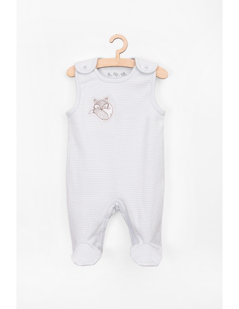 Bawełniane śpiochy dla niemowlaka- niebieskie