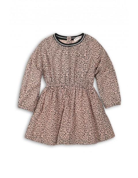 Sukienka dla niemowlaka- różowa w panterkę