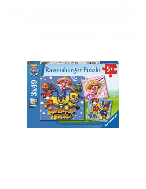 Puzzle Psi Patrol 3x49 elementów