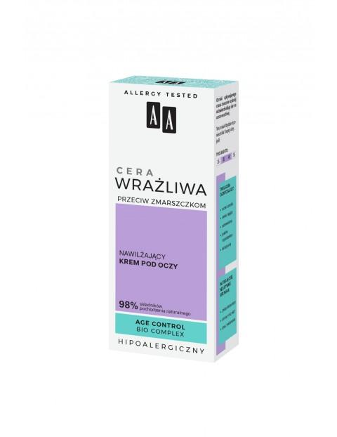 AA Cera Wrażliwa Przeciw Zmarszczkom nawilżający krem pod oczy - bezzapachowy 15 ml