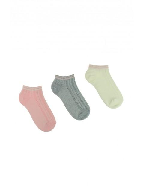 Skarpetki damskie kolorowe 3-pack