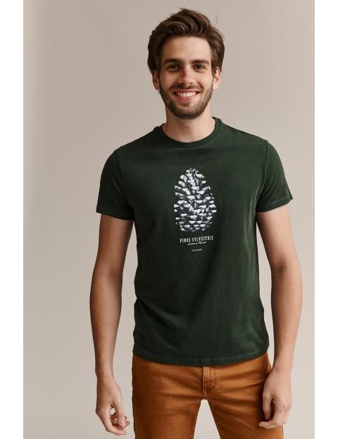 Tatuum Bawełniany t-shirt męski z nadrukiem - zielony