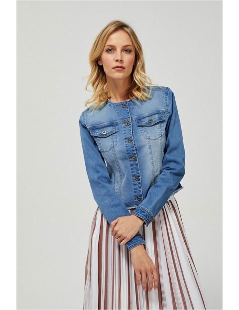 Krótka katana jeansowa damska - niebieska