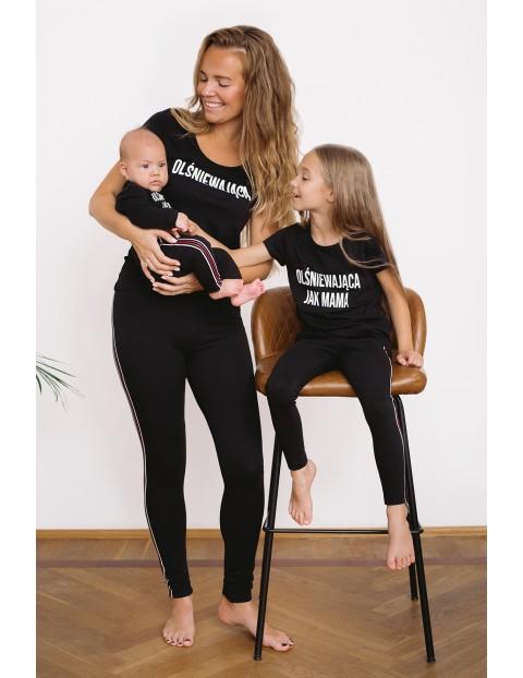 T-shirt dziewczęcy z napisem - Olśniewająca jak mama