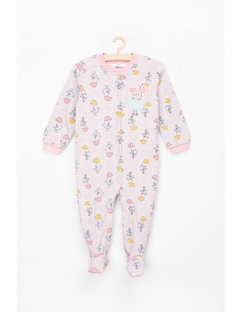 Pajac dla niemowlaka- dziewczęcy bawełniany
