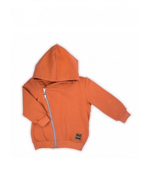 Bluza dresowa z kapturem Fox Club -pomarańczowa
