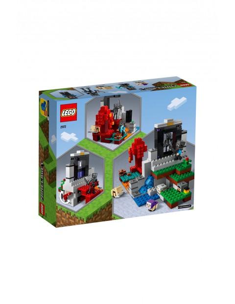 LEGO® Minecraft Zniszczony portal 21172- 316 elementów, wiek 8lat