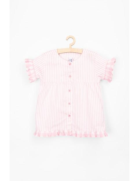 Koszulka dla niemowlaka bawelniana w różowe paski