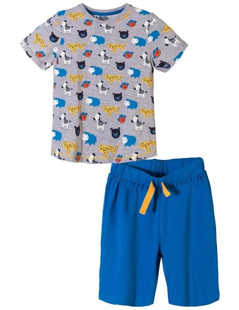 Piżama dla chłopca w kolorowe zwierzaki
