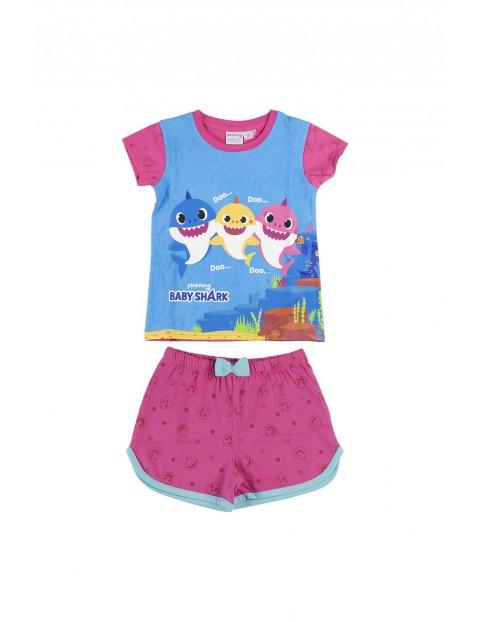 Piżama dziewczęca z krótkim rękawem Baby Shark