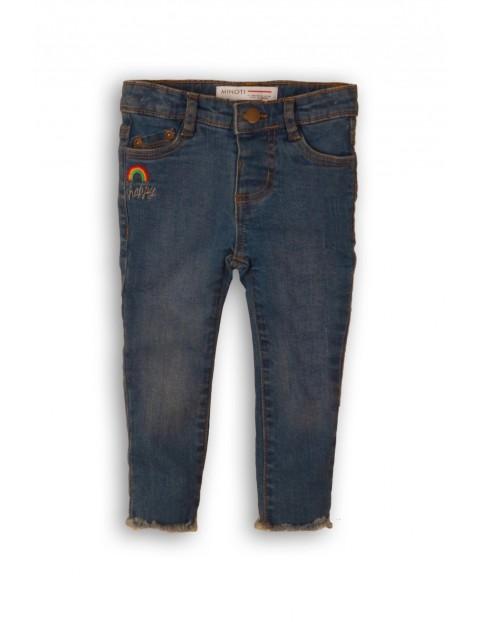 Jeansowe granatowe spodnie dziewczęce