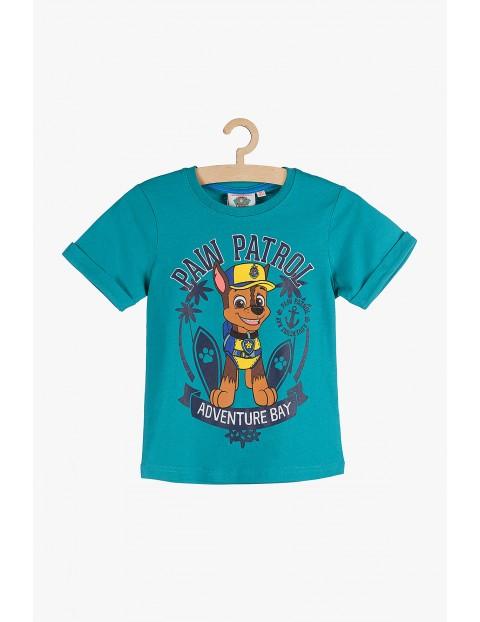 T-Shirt chłopięcy niebieski Psi patrol
