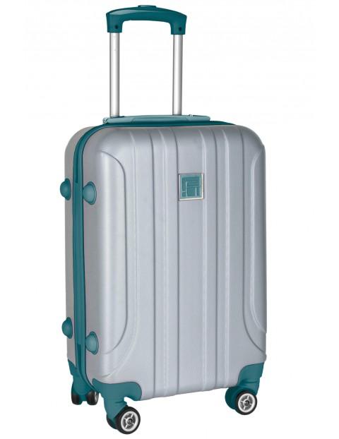 Szara walizka na kółkach PASO