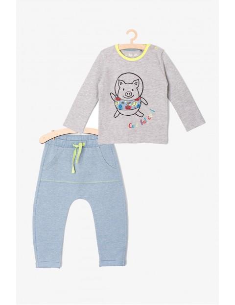 Komplet niemowlęcy szaro-niebieski