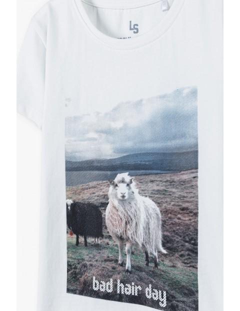 Bawełniany t-shirt dziewczęcy