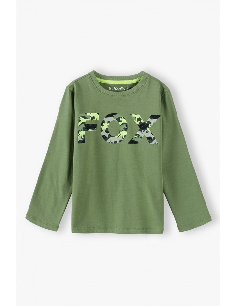 Bluzka chłopięca z długim rękawem - zielona