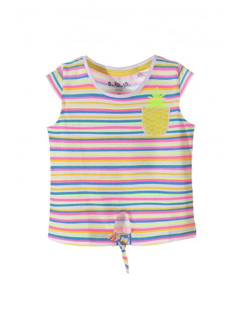 Koszulka dziewczęca w kolorowe paski