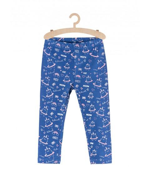 Leginsy dziewczęce niebieskie w kotorożce