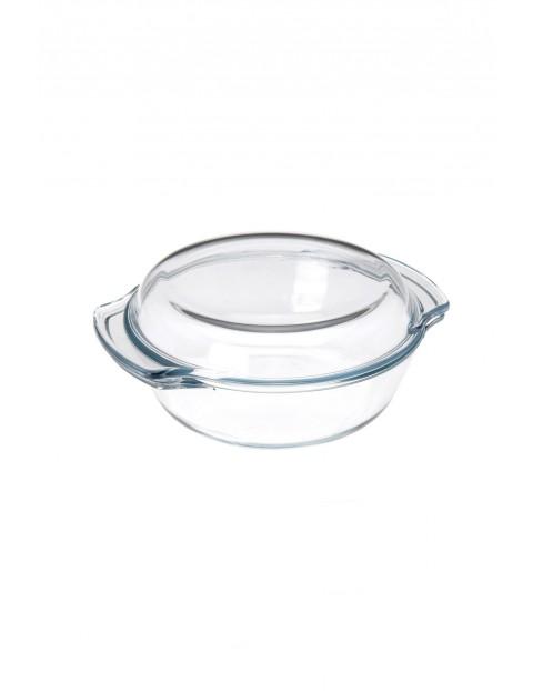 Naczynie żaroodporne z pokrywką pokrywą okrągłe 2,4L