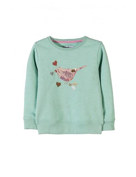 Bluza dziewczęca dresowa- cekiny