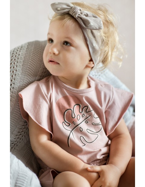 Rampers niemowlęcy różowy