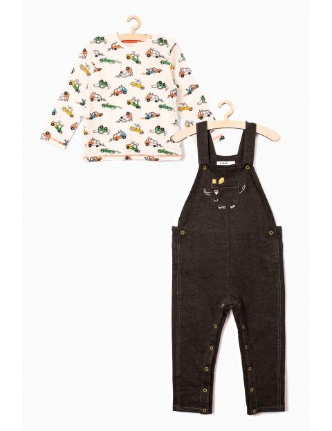 Komplet ubrań dla dziecka- bluzka i spodnie ogrodniczki