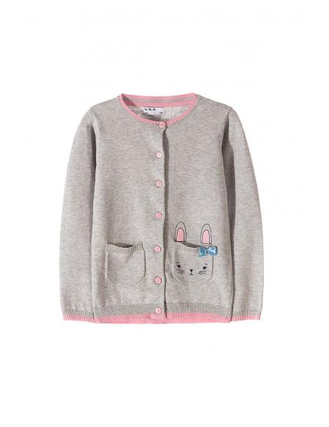 Sweter dziewczecy 100% bawełna