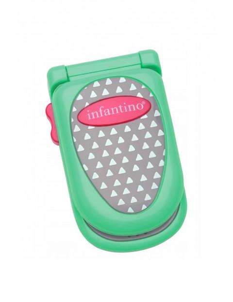 Pierwszy telefon malucha zielony- zabawka edukacyjna