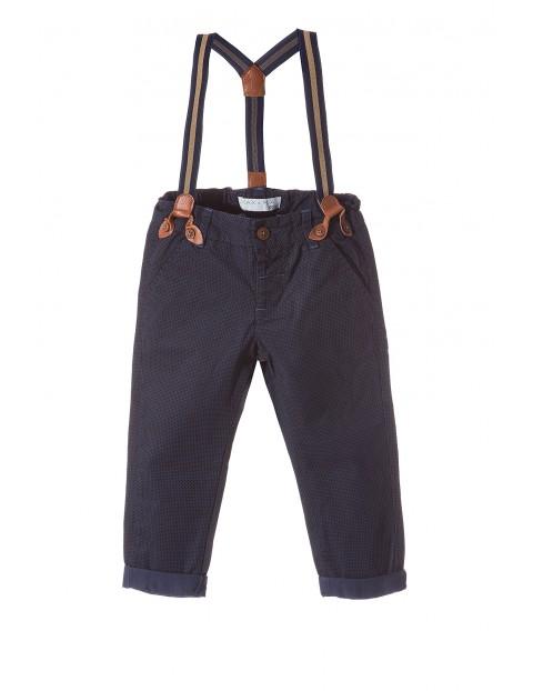 Spodnie chłopięce z szelkami 1L3409