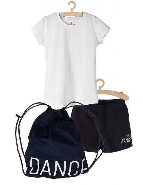Komplet na zajęcia sportowe - tshirt spodenki i worek