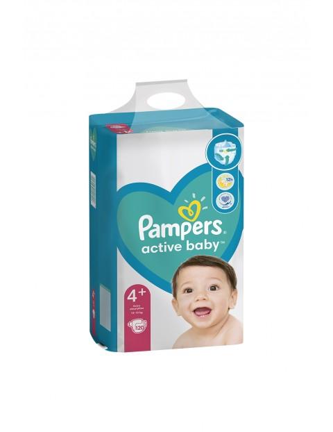 Pampers Active Baby, rozmiar4+, 120pieluszek, 10-15kg