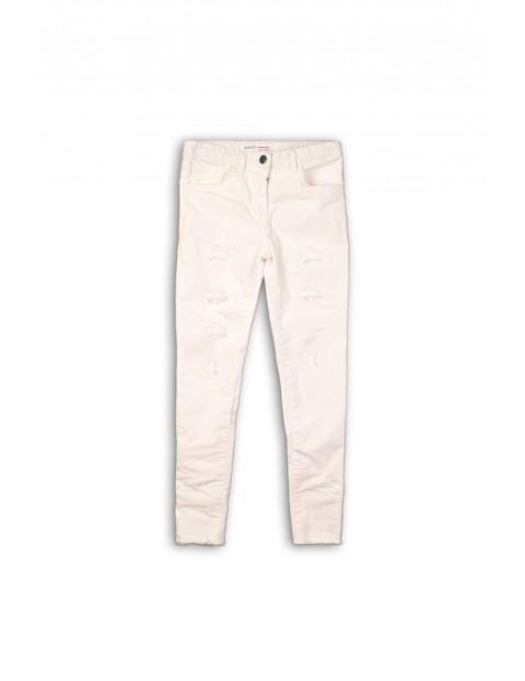 Spodnie dziewczęce- białe slim