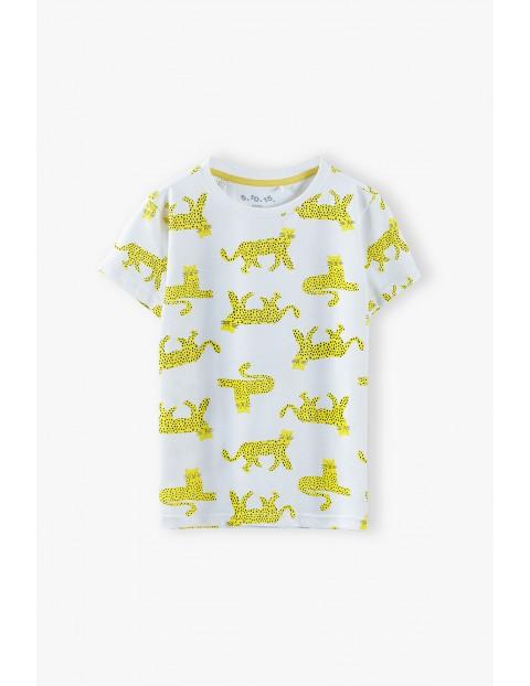 T-shirt chłopięcy w tygrysy