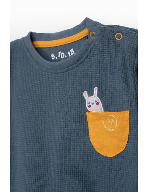 Bluzka bawełniana niemowlęca z kieszonką