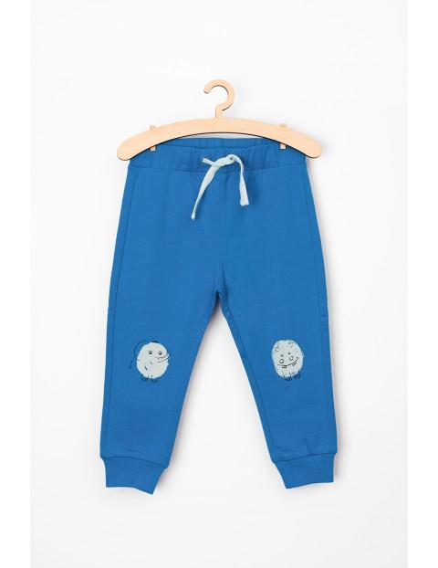 Spodnie dresowe niemowlęce- niebieskie