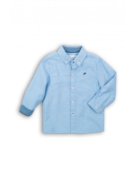 Niebieska elegancka koszula dla niemowlaka- długi rękaw