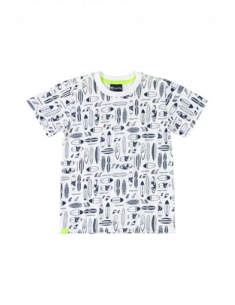 T-shirt chłopięcy Surf - biały