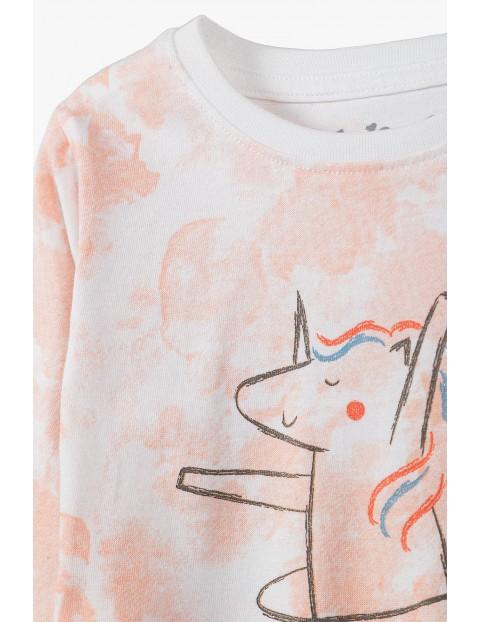 Piżama dziewczęca z z jednorożcem - różowa
