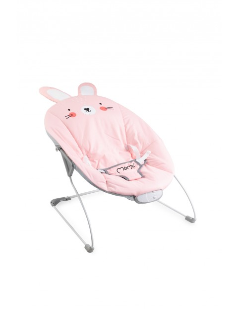 Leżaczek bujaczek z wibracją i muzyką MoMi GLOSSY króliczek 0msc+