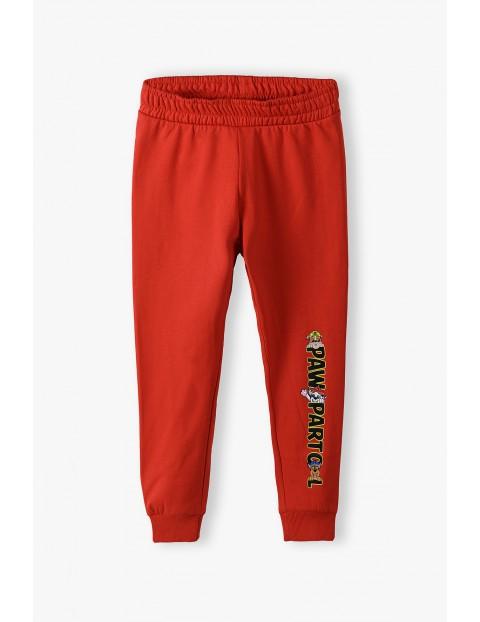 Czerwone spodnie dresowe Psi Patrol