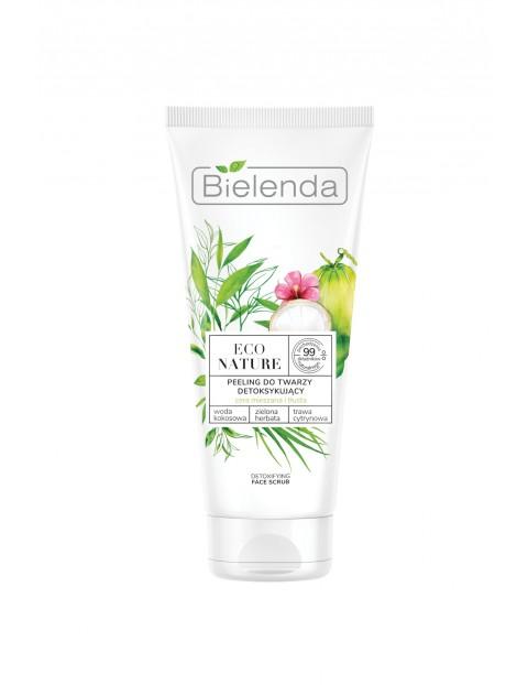 ECO NATURE - Woda kokosowa + Zielona Herbata + Trawa Cytrynowa - peeling do twarzy detoksykujący  150 g