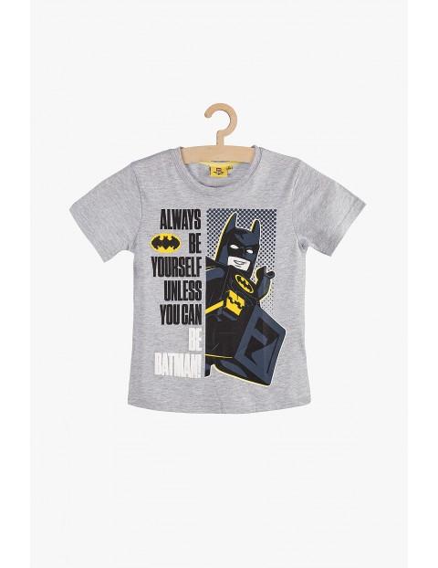 T-Shirt chłopięcy Lego Batman-szary rozm 140