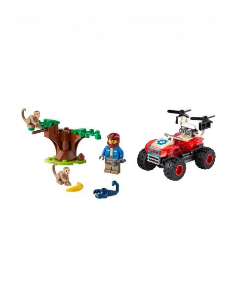 LEGO City - Quad ratowników dzikich zwierząt 60300 -  74 el wiek 5+