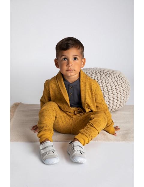 Spodnie dresowe chłopięce-musztardowe