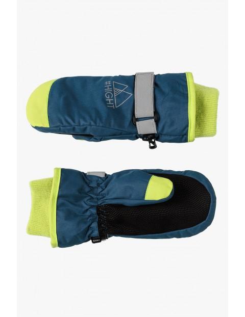 Rękawiczki narciarskie dla chłopca z elementami odblaskowymi