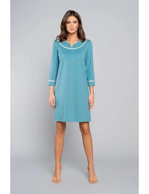 Niebieska koszula nocna - 7/8 rękaw Italian Fashion