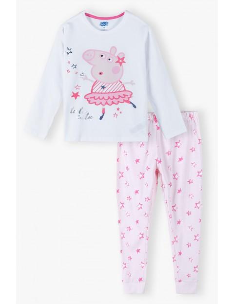 Bawełniana pidżama dziewczęca Świnka Peppa