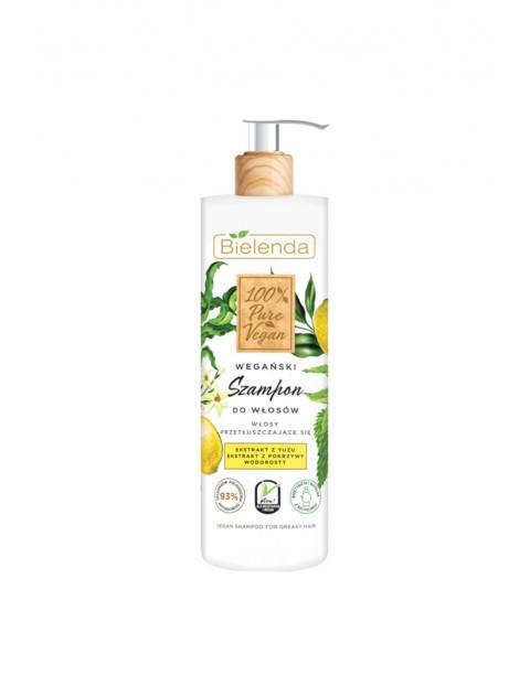 PURE VEGAN Wegański szampon do włosów - WŁOSY PRZETŁUSZCZAJĄCE SIĘ - 400ml